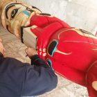 Türkiye'nin ilk totemi Alaskalı Jno Didrickson tarafından oyuluyor